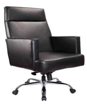 ELEGANT HIGH BACK CHAIR MANUFACTURER IN MUMBAI:   Heavy body composite leather executive chair with wooden frame Cushioned handles with composite leather. Knee tilt mechanism Hydraulic Gaslift for height adjustment Chrome base with nylon casors. Colours in composite leather available for selection  SEE MORE:  http://vof.co.in/index.php/product/elegant-high-back/