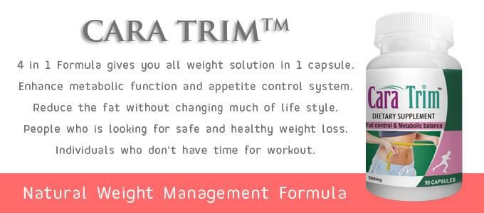 CaraTrim - Natural Weight Loss. 90 Supplement Capsules. Rs.2750/- Fat Control & Metabolic Balance. Natural Weight Management Formula.  more info : http://camillotek.com/all/caratrim.html  buy now : https://www.payumoney.com/store/buy/camillotek004
