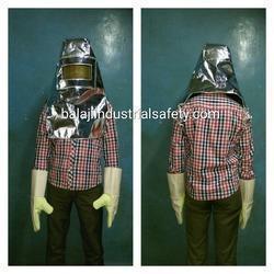 Aluminized Fireman Hood i
