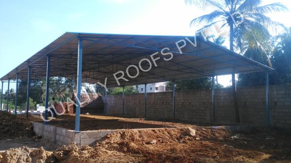 Industrial Roofing Shed          We are offered Industrial Roofing Shed come designed and developed in quality construction finish and provides for lasting service usage. These sheds can be made available in different length, width, height options as well as can also be developed keeping in mind local weather conditions.              This shed is manufactured as per international quality standards utilizing top quality material and latest machines. This shed is made obtainable in several specifications like sizes.