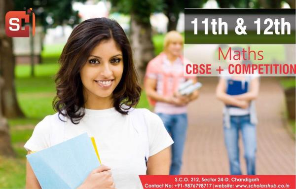 Scholars hub is the best maths institute in Chandigarh. 11th and 12th Maths for CBSE and Competition in Chandigarh. We have highly qualified and experienced maths faculty. Stress is given on basic concepts and tricks and Techniques are provided to crack JEE Maths exam in Chandigarh. Non medical Coaching in Chandigarh  11th Maths Tuition in Chandigarh  12th maths in Chandigarh  11th Non Medical Classes in Chandigarh  11th Commerce Maths Coaching in Chandigarh