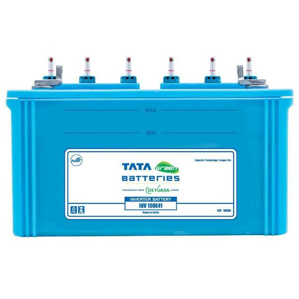 Tata Green 100AH Battery  Brand : TATA GREEN Model : Inverter 100AH Price : Rs.8200 Warranty : 24 months  Tata Green Batteries 100AH,  Tata Green 135AH,  Tata Green 150AH,  Tata Green 180AH,  Tata Green 200AH also available. Tata Green Tall Tubular Batteries : Green Bolt 100TT,  Green Bolt 150TT,  Green Bolt 180TT,  Special Additives - for longer backup Increased Charge Acceptance - for quick charging Increased Specific Gravity - for higher capacity Special Designed Glass Mat Separator - for improving deep discharge capacity Battery also available for 24 and 36 months warranty