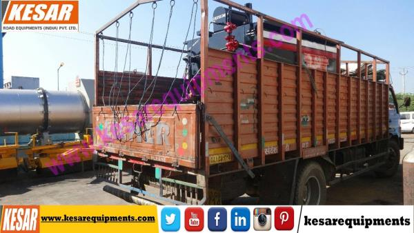 Our Company Dispatch Bitumen Emulsion Sprayer With Heavy Compressure For Road Dust Cleaning At UttarPradesh, India.  Kesar Road Equipments Is Manufacturer Of Asphalt Hot Mix Type Drum Mix plant In Mehsana, Gujarat, India.  www.kesarequipments.com