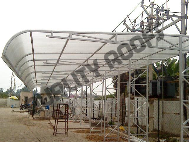 Polycarbonate Roofing In Chennai         We have acceptance as notable firm offering best in class Polycarbonate Roof Shed. Known for their easy installation and seamless finish, these products are available with us in various technical specifications.    Polycarbonate Roofing Sheds are fully complemented for their excellent design and quality. These products are finished in perfect manner and are desirable for their excellent quality and ease of installation. Offered range is greatly demanded among our client base on account of several unique attributes.