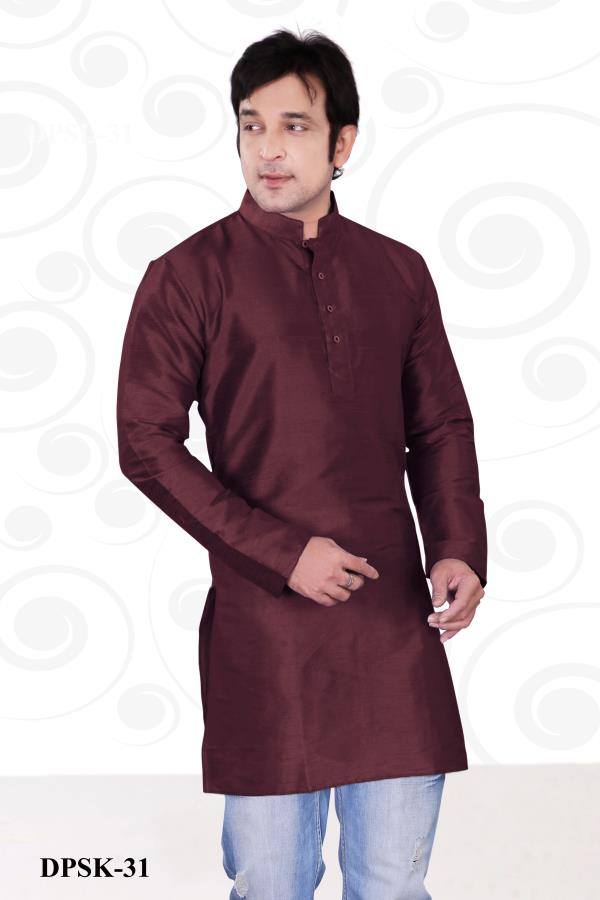 Fancy Ethnic Short Men kurta Opulence Wine color Dupion plain silk kurta with is perfect attire for party and other special occasions. Mind-blowing fancy ethnic Men short kurta gives attire to your personality.  http://www.silk-india.com/en/kurta-pajama/1124-beige-poly-dupion-readymade-kurta-with-churidar-g15.html