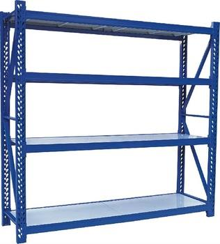 Heavy Duty Storage Rack  Our organization is counted amongst the foremost entities in the market engaged in manufacturing and supplying a high quality range of Heavy Duty Storage Rack at market leading prices. Heavy duty storage system can be used in warehouses of various industries to store large, cartons, machines and other similar products. These products are highly acknowledged among patrons due to their exceptional finish, can withstand toughest conditions and heavier loads and longer life. Apart from this, the offered systems are rigorously tested on various parameters of quality.  Features:  Can withstand toughest conditions Maximum storage capacity Requires minimum space Light weight  Applications: This design is suitable for Raw-material and finished product storage for each & every industry.