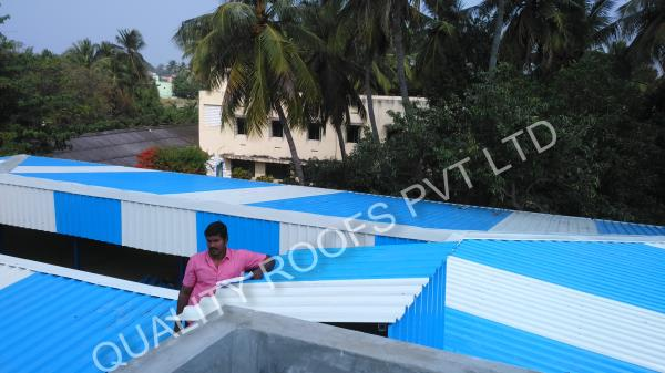 Terrace Roofing In Chennai         We are the Leading Terrace Roofing In Chennai. to our valuable customers at affordable rate with timely delivery. Our Sheds are elegantly structured and sturdily constructed which provide protection to the building very excellently. These Convention Sheds also give the lovely and beautiful look to the house or building.           various other commercial and public places. We offer these sheets in different sizes and colors, as per the clients' needs.