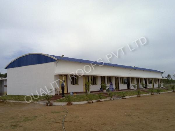Metal Roofing Chennai       We are manufacture and supply quality Metal RoofingChennai. The offered sheds are manufactured using finest quality material that is sourced from reliable vendors of market. These sheds are  acknowledged for their longer functional life and weather resistance. Modern tools and advance technology are used to fabricate these sheds in strict compliance with industry set guidelines.                  Some of its features include long service life with less maintenance requirements.  have short construction period. option of different thicknesses,  can be provide with color finishes according to customer requirements.
