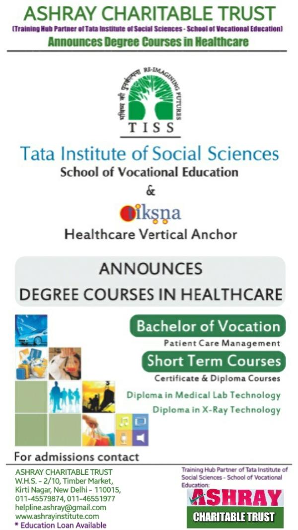 Best healthcare studies institute in Delhi!  Ashray Charitable Trust is now providing best quality vocational degree and diploma education in healthcare!  Explore the best options for starting a career in healthcare at - Ashray Charitable  - by ASHRAY INSTITUTE OF PARAMEDICAL SCIENCES, (Managed by: ASHRAY CHARITABLE TRUST), W.H.S.-2/10, Timber Market, Kirti Nagar, West Delhi Area, New Delhi-110015, India, Delhi