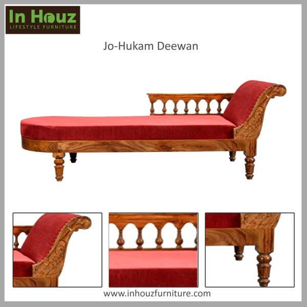 Here is a Solid Wood Deewan to give a royal touch to your charming Living Room handcrafted in Sheesham Wood.   Buy Wooden Deewans Online from our Furniture Showrooms India or from our Online Furniture Shop.  Browse from our wide range of Solid Wood Furniture and Get Flat 30% Off on all Solid Wood Furniture only from our Online Furniture Store.  Buy Online Furniture from our Online Furniture Store www.inhouzfurniture.com