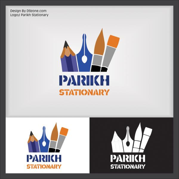 #Artistic Logo Designer for #Stationary Shop, Ahmedabad   #CreativeAdvertisement  #BrochureDesign-Print Creative Graphic Designer #Corporate Identity Design D9zone.com | 7383333399