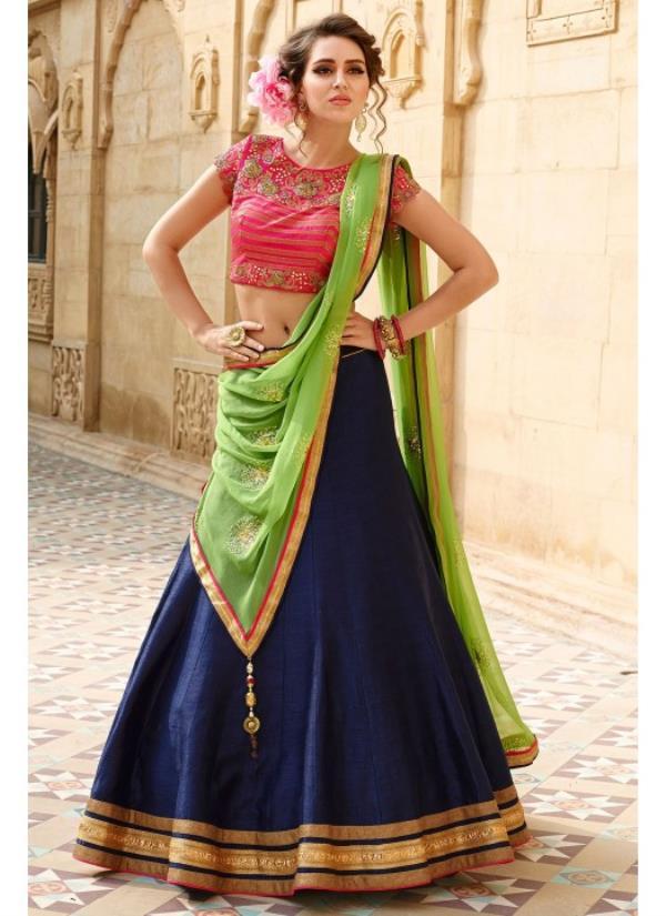 0173cb2761 'Banglory SIlk Lehenga Choli' This lehenga choli made by banglori silk  fabric with nazneen