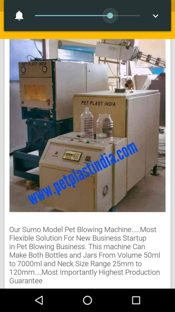 Sumo Model Pet Blowing Machine