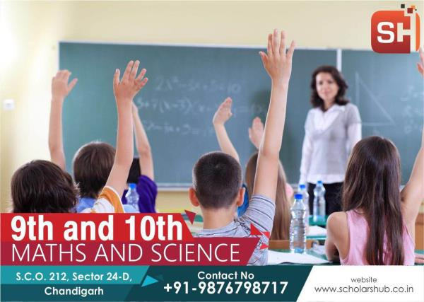 9th and 10th Class Maths Science Coaching in Chandigarh. Best maths coaching for 10th Class in Chandigarh. We provide coaching of Maths Science SST and English to 10th Class and 9th Class.
