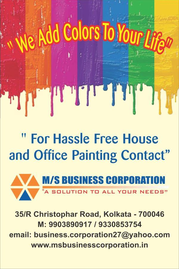 We provide professional painting services in Kolkata