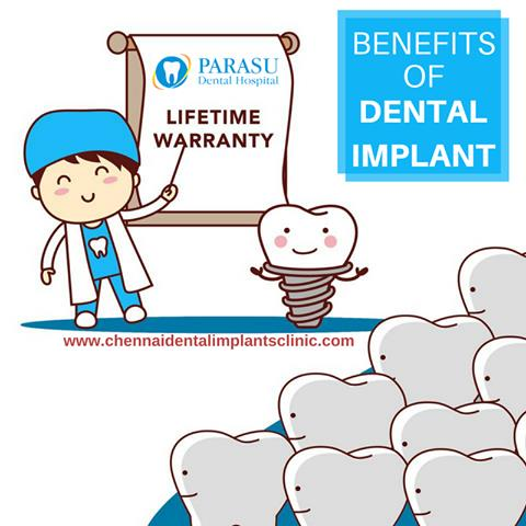 #Dental_Implants have many advantages than any other treatment. With the proper care, the dental implants will last many years. They won't get any #decay or #cavities like problems. Dental implants look as such like the normal #teeth. Avail this advantages of dental implants if you are a patient suffering from missing tooth @ chennaidentalimplantsclinic.com/benefits-of-dental-implant . #Tooth #Best_Dentist #Chennai  Contact us :- 9710442527  / 7299004333  mail us :- parasudentallimplantcenter@gmail.com