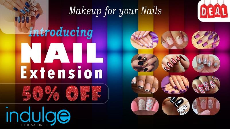 Introducing Acrylic Nail Extension & Nail Art now at Indulge. Enhance your nails with our 50% off on all Nail Extension / Nail Art services
