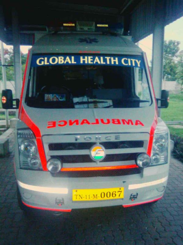 Indian ambulance  service   for  Renault  Nissan  car  company. the  services of  good  provide - by Indian Ambulance Service, Chennai