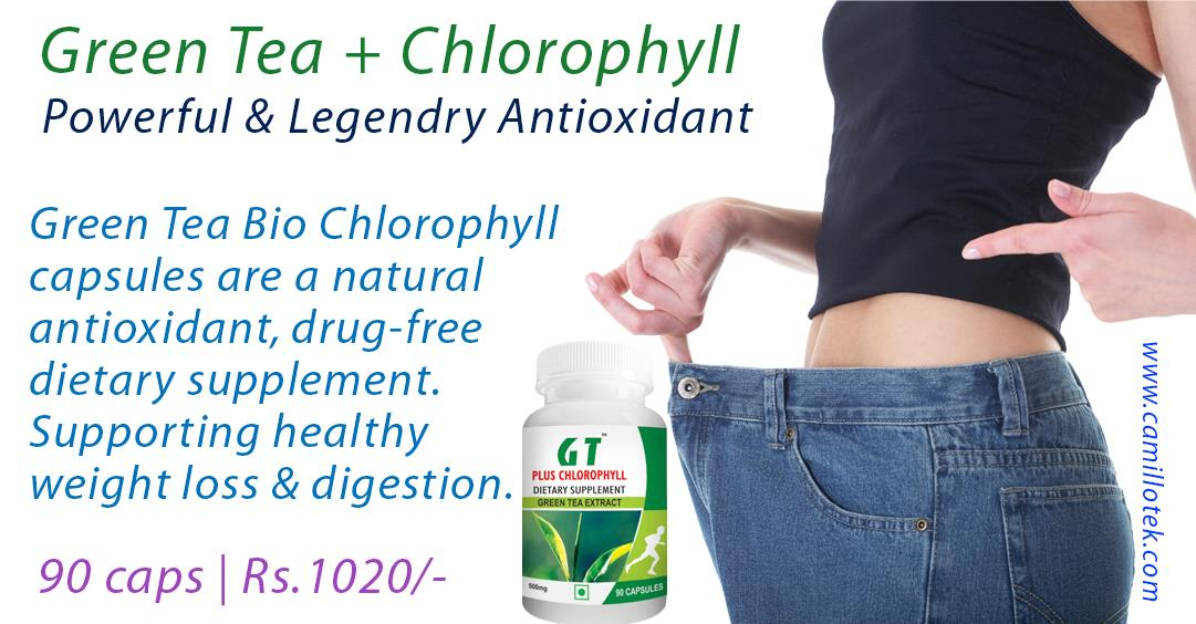 Green Tea Bio Chlorophyll capsules are a natural antioxidant, drug-free dietary supplement. Supporting healthy weight loss and digestion.  Buy now: https://www.payumoney.com/store/buy/camillotek006  More info: http://camillotek.com/all/green%20tea%20plus%20chlorophyll.html http://camillotek.com/all/green%20tea%20plus%20chlorophyll.html  Buy Green Tea Extract online, green tea supplements, green tea capsules, supplementing with green tea, Green Tea Chlorophyll capsules, Dietary Supplement Green Tea, Buy Green Tea Fat Burner, 'Green tea extract' in pills, EGCG Green Tea Extract.  Coenzyme Q10 supplement manufacturers, Coenzyme Q10 supplement suppliers, Coenzyme Q10 supplement exporters wholesalers, traders in Chennai, India.
