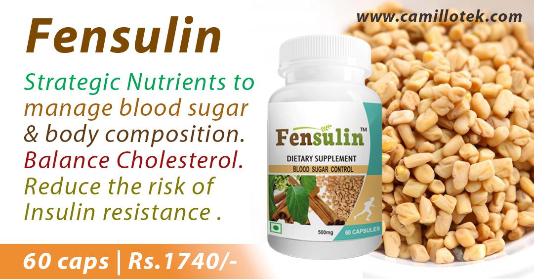 Strategic Nutrients to manage blood sugar & improve body composition.  Buy now: https://www.payumoney.com/store/buy/camillotek008  More info: http://camillotek.com/all/fensulin.html  Diabetes prevention, diabetes management, supplement treatment for Diabetes, supplement to treat Diabetes, supplements for a diabetic diet, dietary supplement for diabetes, control of blood sugar,  herbs and natural supplements for diabetes, Diabetic Supplements, supplements for diabetes control, Diabetes Care Capsules, Antidiabetic Capsules, Diabetic Herbal Medicine and Blood Sugar Control Capsule, anti-diabetes herbal drug, natural anti-diabetes drug , diabetes treatment, Manufacturer of Diabetes Capsule, Tablets for Diabetes Online, 'smart' insulin capsule, best herbal medicine for diabetes,  anti-diabetes herbal drug.  Coenzyme Q10 supplement manufacturers, Coenzyme Q10 supplement suppliers, Coenzyme Q10 supplement exporters wholesalers, traders in Chennai, India.