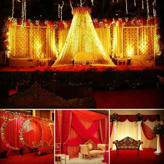 When your mandap looks like this, weddings are memorable and magical. Drapes and floral props matching your lehenga and a simple facade gives an elegant look.