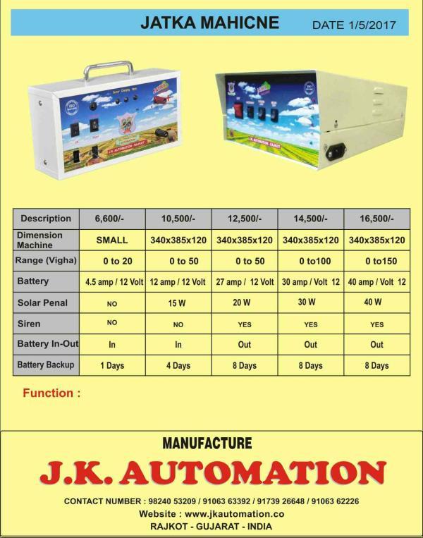 jk best jatka and best services  1 year. warranty