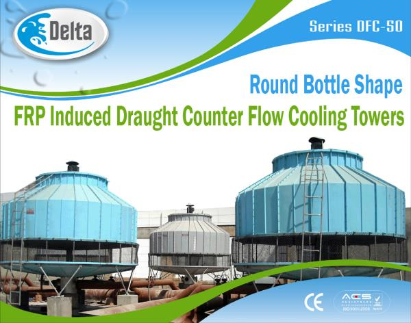 Water cooled chillers and air cooled chillers are refrigeration systems used to cool fluids or dehumidify air in both commercial and industrial facilities.  The basic cooling cycle is the same for both vapor-compression and absorption chill - by Delta Cooling Towers P. Ltd.  9811156637, New Delhi