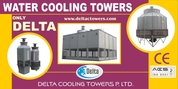 Cooling Tower  As hot water enters the cooling towers, through a series of pumps, to the warm water inlet. The warm water is then distributed into through a packing or fill material inside the tower keeps the water evenly distributed. This  - by Delta Cooling Towers P. Ltd.  9811156637, New Delhi