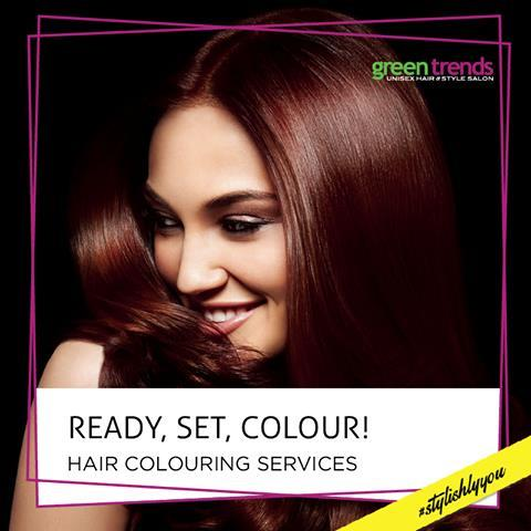 Hair Dyeing Green Trends MUDICHUR WEST TAMBARAM SEMBAKKAM In - Green trends change of hairstyle
