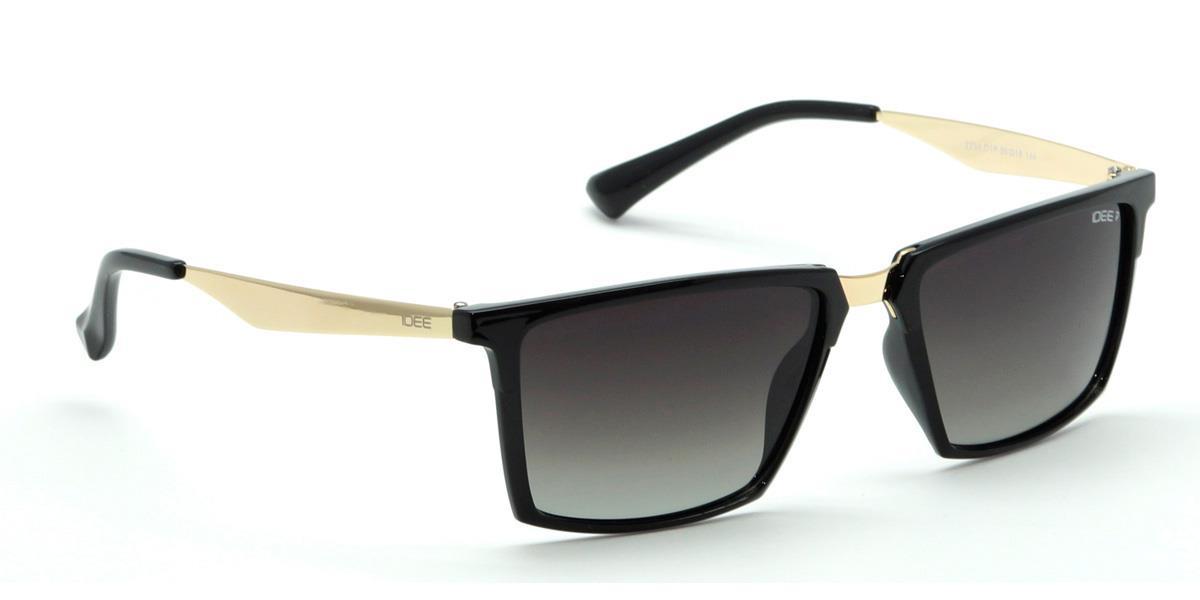 50fa2fe98fa3e IDEE Sunglasses Unisex Medium 55mm Black Polarized Wayfarer IDEE-S2234-C1P  Shop Now From