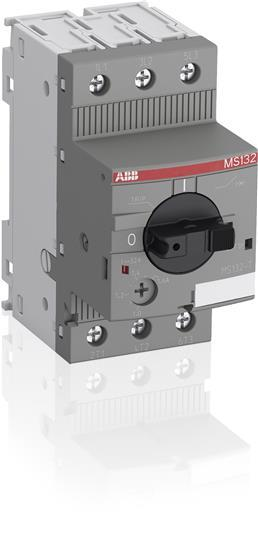 MS132-10T 1SAM340000R1010 MS132-10T Circuit Breaker for Primary Transformer Protection The circuit breaker for transformer protection MS132-10T is a compact 45 mm width device designed to protect control transformers on the primary side. This device has a rated operational current of Ie = 10 A. It allows fuse-less protection against overload and short-circuit. The short-circuit current setting is fixed to 20 times the rated operational current to handle the high inrush current generated by transformers. The device allows manually connect and disconnect the transformer from the mains thanks of its built-in disconnection function. The circuit breaker for transformer protection offers a rated service short-circuit breaking capacity of Ics = 100 kA at 400 VAC and a trip class 10. Further features are temperature compensation, trip-free mechanism, rotary handle with a clear switch position indication and short circuit trip indicator. The handle is lockable to protect against unauthorized changes. Auxiliary contacts, signalling contacts, undervoltage releases, shunt trips, power in-feed blocks are available as accessory.