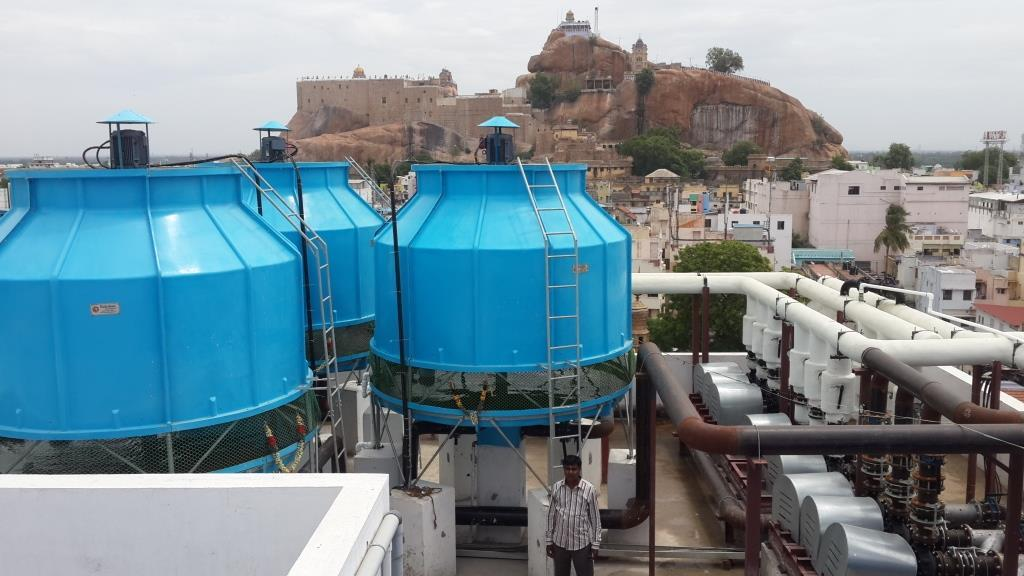 We are eminent manufacturers, suppliers and exporters of a wide range of Cooling Towers. These cooling towers are used for effective removal of heat and cooling buildings, these products are used by various industries like oil refineries, thermal power stations, petrochemical & chemical plants and HVAC systems. These products are wide accredit for their durability, easy installation, low maintenance, resistance against corrosion and high strength, these products are widely appreciated by our huge clientele. Cooling Tower are available in different models as per client's specific requirement.