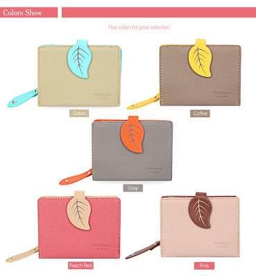 Downtown  for Women Sweet Plant Leaf Letter Clutch Short Wallet Card Holder Coin Purse  For More Info :  Visit Our Store or Website :  http://downtownonline.in  Downtown -  Wallets # Clutch Purses # Hand Bags # Shalimarbagh # Rajouri Garden
