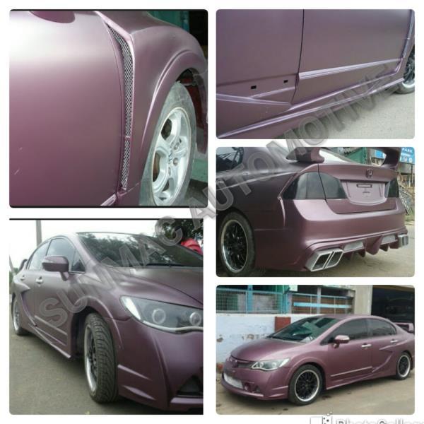 Honda civic alteration in Coimbatore  Civic front bumper modification ,  Civic rear bumper modification ,  Civic side skirts,  Civic spoiler ,  Civic fender alteration ,  Civic door alteration