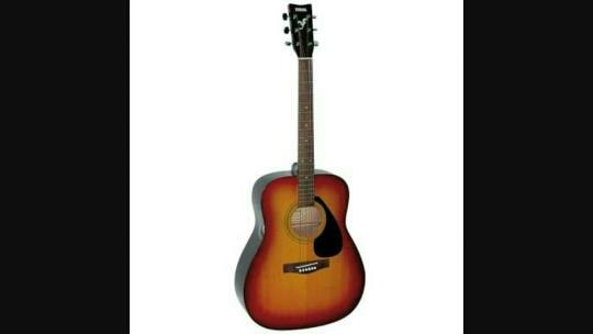 Yamaha F310 Guitar Price in Chennai   Yamaha`s F series currently offers seven models, of which, one is F310. It comes with non-cutaway dreadnought body which is made of meranti back and sides with a spruce top. The top is equipped with a black plastic pickguard and a triple circle rosette around  sound hole. It is also finished in gloss. Bridge on this model features a belly shape, and it`s made of rosewood. F310 features no electronics, no pickups or preamps, whatsoever. The neck on this Yamaha is made of nato wood and it comes with a standard shape. Neck joint is dovetail, and it is set at the 14th fret. Fingerboard is made of rosewood and it comes with 20 frets, dot position inlays and 1.6535