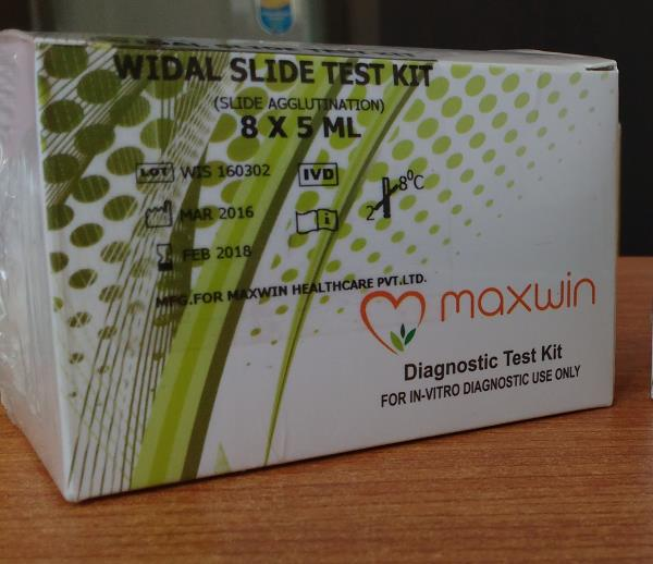 Widal Slide and Tube Test Kit Manufacturer In India   * CE Certified   * S.TYPHI