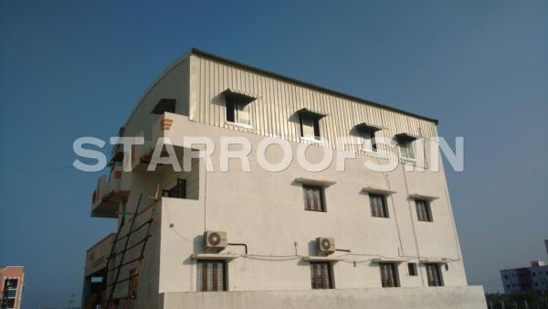 Terrace Roofing Shed in chennai  We are leading Roofing shed contract services in Chennai and all over south India. Our Company provides a complete range of Steel Industrial Shed. Our steel industrial sheds are catered to diversified requirements of various industrial establishments. Our expertise is capable in fabricating such steel structural sheds in different sizes and dimensions and other optional features as per the specified requirements of our clients We have a good reputation for factory building, and design and construct all types of metal structures, manufacturing buildings, process plant buildings.
