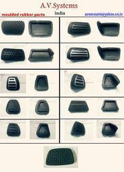 Automotive Rubber Products  Our range of products include moulded rubber goods. Moulded Rubber Goods  made of polymers like SBR, EPDM, Polychloropene, Silcone, flexible PVC. complinace to SAE J 200 and ASTM 2000, FMVSS, Taber abrasion standards.