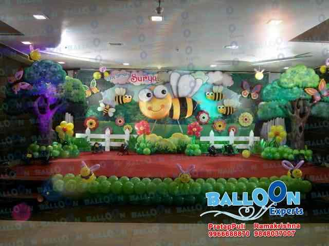 Amazing Balloonexperts Honey Bee Theme Birthday Themes For Kids Party