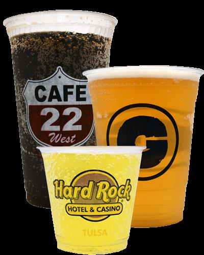 Liquor plastic disposable cups manufacturer, hotels, restaurant and bars can print there brand on the cups they serve as to make an impression on the customers mind as the restaurant or bar or hotel is very brand conscious and customer feels good about being associated.