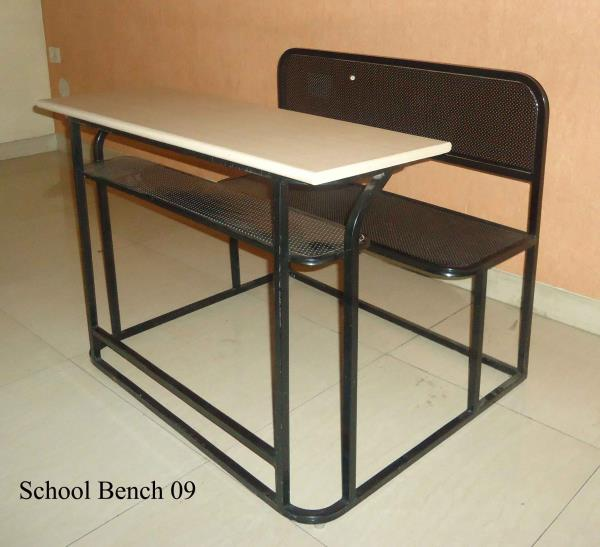 School Benches : We are manufacturers of furniture required for Schools and other Institutions . Our range includes Benches , Library furniture like Cupboards , Racks , Reading Tables and Chairs , Laboratory equipment like reagent stands  , and Laboratory work benches etc . The benches can be made as per the specifications of the customer and are powder coated to give a long life to the product . Benches with individual storage for the children can also be made.