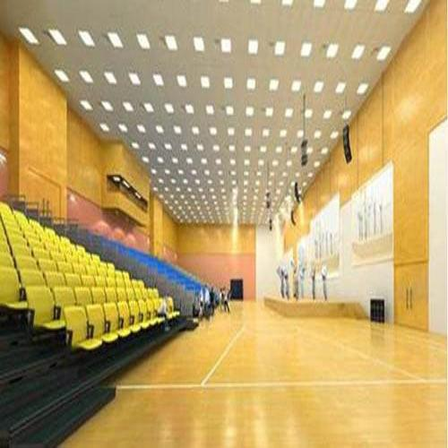 Air-Cush Wooden Flooring  We are Air-Cush Wooden Flooring manufacturers in Banglore. Sundek Air Cush Wooden Floor is safe and injury free sports floor with excellent and consistent resiliency, friction and ball bounce. It is designed to nullify injury impact on various parts of a human body. Sundek Sports systems engage in offering Air-Cush Multipurpose Hall for various sports under one roof. Air-Cush Multipurpose Hall is intended to fulfill the need for a sizeable hall for various functions and sporting activities. In this space constraint world, Multi Purpose Halls are ideal solutions to playing different sports on the same surface with prominent line markings. These Air-Cush Multipurpose Hall are also used to carry out exhibitions and fairs. Air-Cush Multipurpose Hall is designed to ensure no impact injury on the knees, feet, shins and ankles of players. The flooring is made from Maple / Oak wood selected for its exceptional strength, durability and high resistance to wear and tear.   Other Details:  Air-Cush Multipurpose Hall flooring is resistant to the vigorous and extensive wear and tear due to use by the players. Air-Cush Multipurpose Hall is specially designed to give utmost pleasure to the players. Air-Cush Multipurpose flooring use in prestigious clubs, gymkhanas and other sport organizations.