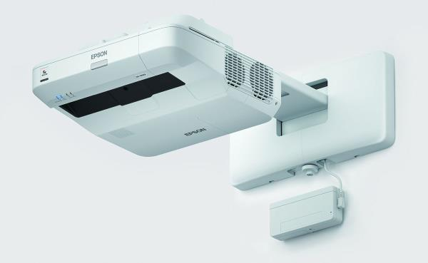 Ultra Short throw projectors from Epson for Schools, Colleges.  Epson EB 675wi is a HD ready Interactive projector.  3200 lumens color and white brightness,  1280 x 800 pixels WXGA resolutions,  16000:1 contrast ratio,  16W built in speaker,  Wifi enabled,  Ultra Short Throw!!!  Call Viewtech Hyderabad, the Authorized Epson Dealers for more details. Ready stocks available!!!
