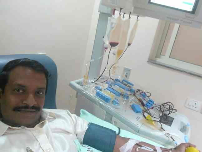 When ever I get free I am ready and eager to donate Blood or Platelets voluntarily even though I am developing a Business as ups, Inverter Dealer, sales and service of UPS and Batteries that is my hobby and gives happiness to me