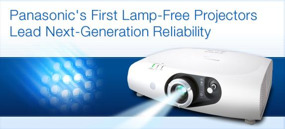 PT-RZ370/RW330 PT-RZ3703, 500 lm Full HD PT-RW3303, 500 lm WXGA  Approximately 20, 000 hours* of maintenance-free operation No need to replace the light source or air filter, providing a dramatic reduction in TCO.  Long-lasting picture quality Excellent picture quality and brightness are maintained for a long time.  Superb color reproduction Beautiful, vivid colors exceeding the levels of conventional projectors.  Quick start, quick off The image appears almost instantly upon powering up, and there is no need for cooling after turning the power off.  The power can be turned on immediately after being turned off, and it can be turned on/off as many times as you want. The PT-RZ370/RW330 features 3, 500 lumens of brightness.  Rate of brightness deterioration in the LED/Laser-combined light source is extremely slow compared to lamp-based projectors.  The SOLID SHINE drive uses a built-in sensor to constantly detect the light intensity of the light source and correct corresponding changes in white balance. This all helps to maintain excellent picture quality for a long period of time.  Contrast is outstanding too, at 10, 000:1, and images are reproduced with a wide dynamic range. The PT-RZ370 also features a Full-HD (1, 920 x 1, 080) DLP™ chip, allowing highly detailed Full-HD images without resizing. In 1-chip DLP™ system projectors with conventional lamp, a color wheel is used for time-division multiplexing in a method  where the human eye combines the result to achieve a full-color palette. In the PT-RZ370/RW330, this is done by on/off  switching of the LED/Laser-combined light source. A unique Panasonic power supply circuit provides time-division  multiplexing with ultrafast 30x drive.* The resulting, high-definition images exhibit virtually no color breaking.** Laser cooling is performed by releasing the heat to cooling fins, then cooling with a heat pipe cooling system. This suppresses temperature rises inside the projector and allows stable operation up to an ambi