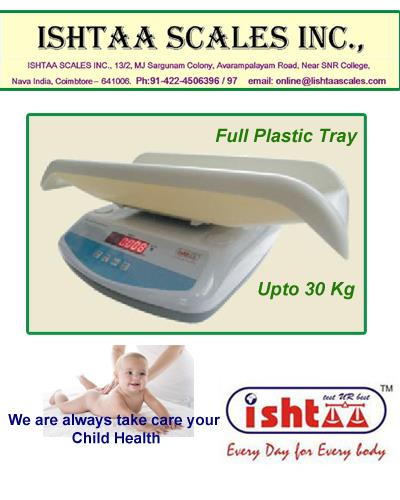 Know your infant's health chart..! Come to ISHTAA SCALES ISHTAA – Baby Weighing Scale 1. We provide quality devices made 4 u. 2. Digital Baby Weighing Scales at Best Quality 3. High Accuracy Electronic Baby Weighing Scales 4. Made with full Plastic to safeguard the Babies health 	 # Baby Weighing # Hospital Weighing # Pediatric Weighing # Newborn Weighing # Infant Weighing # Baby weight # Kids weighing # Clinic weighing # Baby Patient weighing # Child weighing #Ishtaa Weighing #Scales #Accurate Weighing # Accurate Scale # Weighing  To Know more : https://goo.gl/vZY4RT Call : 098430 16028  Web: www.ishtaascales.com