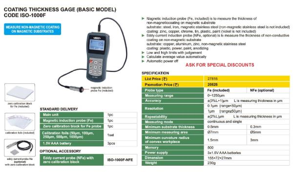 Digital Coating Thickness gage