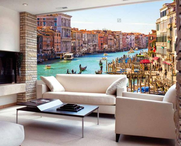 Beautify the walls of your house with this superb Venice city view customized wall tiles. These wall tiles can be used to decorate the walls of your living room, home theatre, kitchen, lobby, garden area, bathroom and bedroom. These wall tiles will give an royal and elegant look to your house. The best feature about these wall tiles is that they are super easy to clean and are 100% water proof and heat resistant.  We also customize the design as per your wish and requirement.