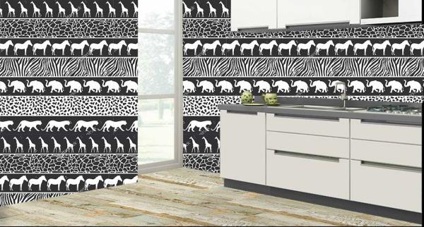 Furnish your kitchen with these african style wild animals designer kitchen wall tiles. These wall tiles give your kitchen a queenly look. The astonishing feature about these tiles are maintenance free and also 100% water proof and heat resistant.   So what are you waiting for, come give your kitchen a new look with these wonderful kitchen tiles.  We are the only tile dealers in entire South Asia to provide you with these new and exclusive customized kitchen wall tiles.