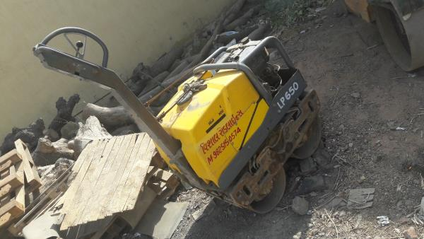 Road Roller on rent. A small compact road roller , hand roller available on rent.  Vishal Thakkar  Vishal Roadlines  +91 9825150574